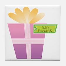 Zadie's Favorite Gift Tile Coaster
