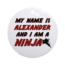 my name is alexander and i am a ninja Ornament (Ro