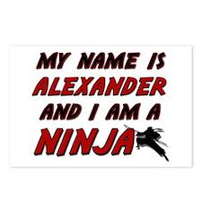 my name is alexander and i am a ninja Postcards (P