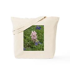 White-Blue Bonnet Tote Bag