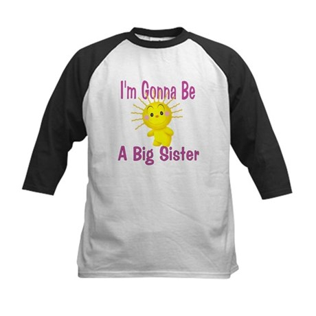 I'm gonna be a big sister Kids Baseball Jersey