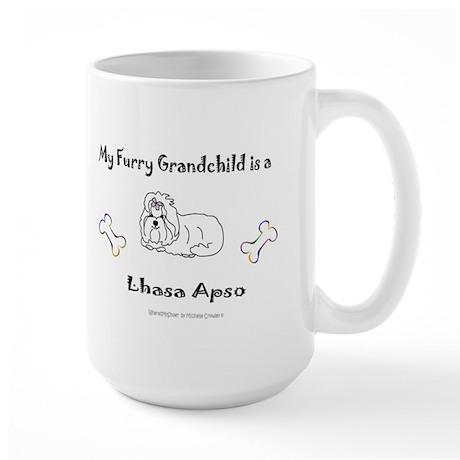 lhasa apso gifts Large Mug