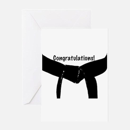 Black Belt Congratulations Card
