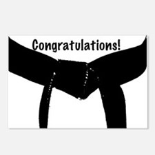 Black Belt Congratulations Postcards 8PK