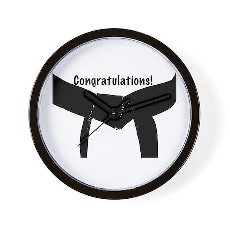 Black Belt Congratulations Wall Clock