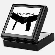 Black Belt Congratulations Keepsake Box