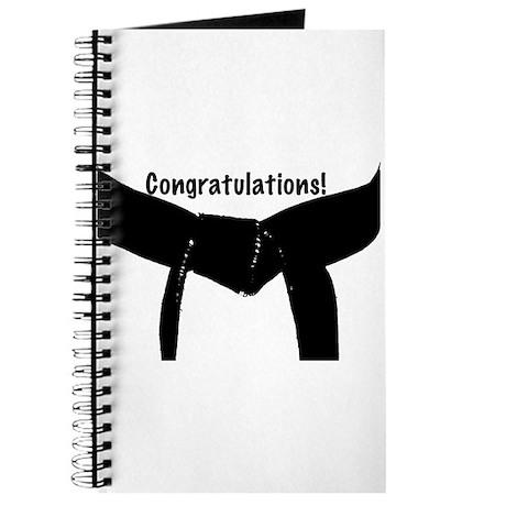Black Belt Congratulations Journal