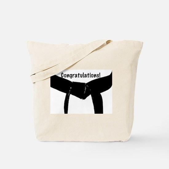 Black Belt Congratulations Tote Bag