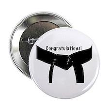 """Black Belt Congratulations 2.25"""" Button"""