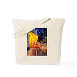 Cafe / Rhodesian Ridgeback Tote Bag