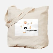 Black Belt Congratulations Tote Bag
