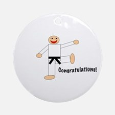 Black Belt Congratulations Ornament (Round)