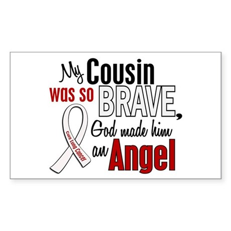 Angel 1 COUSIN Lung Cancer Rectangle Sticker