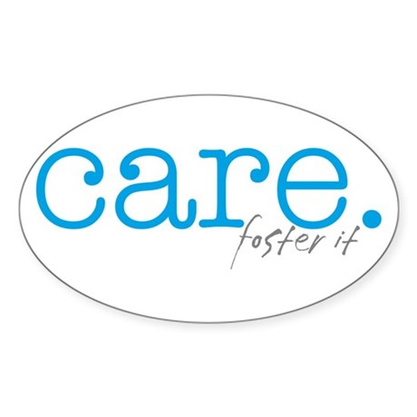 care. foster it Oval Sticker