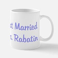 Just Married Mrs. Rabatin Mug