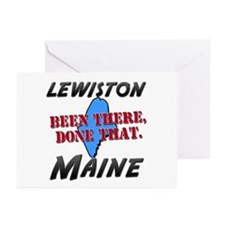 lewiston maine - been there, done that Greeting Ca