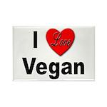 I Love Vegan Rectangle Magnet (10 pack)