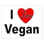 I Love Vegan Small Poster