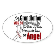 Angel 1 GRANDFATHER Lung Cancer Oval Decal