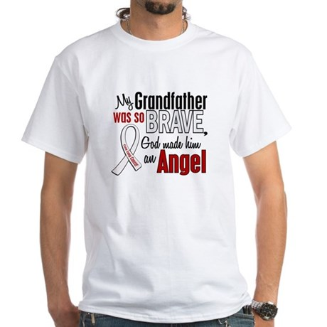 Angel 1 GRANDFATHER Lung Cancer White T-Shirt