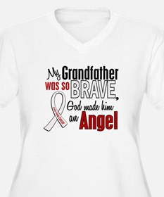 Angel 1 GRANDFATHER Lung Cancer T-Shirt