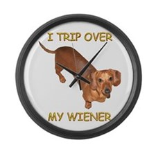 Trip Wiener Large Wall Clock