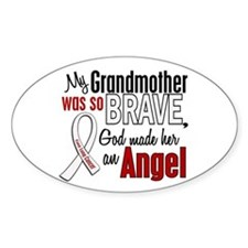 Angel 1 GRANDMOTHER Lung Cancer Oval Decal