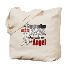 Angel 1 GRANDMOTHER Lung Cancer Tote Bag