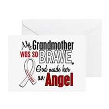 Angel 1 GRANDMOTHER Lung Cancer Greeting Cards (Pk