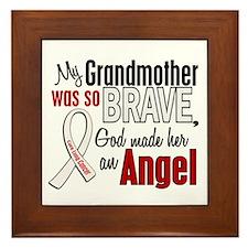 Angel 1 GRANDMOTHER Lung Cancer Framed Tile