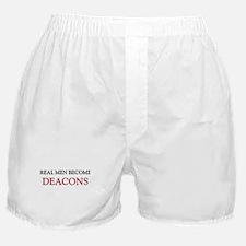 Real Men Become Deacons Boxer Shorts