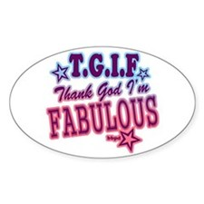 T.G.I.F Oval Decal