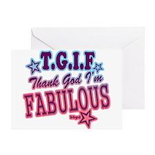 T.G.I.F Greeting Card