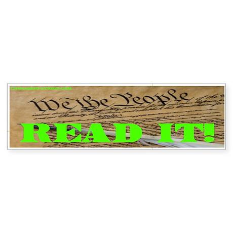 READ THE CONSTITUTION! Bumper Sticker
