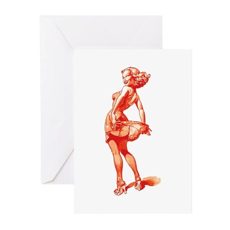 Vintage Pin Up Girl Greeting Cards (Pk of 10)