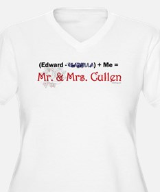 Twilight Mr. and Mrs. Cullen Plus Size V-neck T