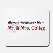 Twilight Mr. and Mrs. Cullen Mousepad