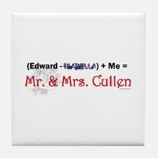 Twilight Mr. and Mrs. Cullen Tile Coaster