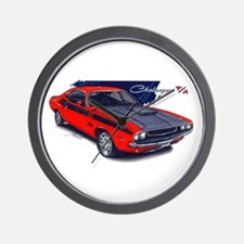 Dodge Challenger Red Car Wall Clock