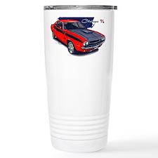 Dodge Challenger Red Car Travel Mug