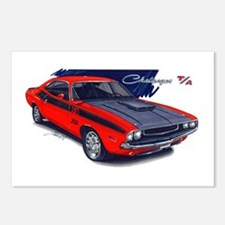 Dodge Challenger Red Car Postcards (Package of 8)