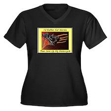 """Eat Worms"" Women's Plus Size V-Neck Dark T-Shirt"