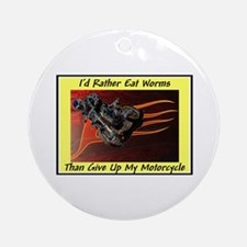 """""""Eat Worms"""" Ornament (Round)"""