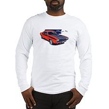 Dodge Challenger Orange Car Long Sleeve T-Shirt