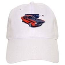 Dodge Challenger Orange Car Baseball Cap