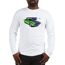 Dodge Challenger Green Car Long Sleeve T-Shirt
