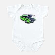 Dodge Challenger Green Car Infant Bodysuit