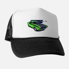 Dodge Challenger Green Car Trucker Hat