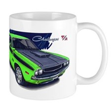 Dodge Challenger Green Car Mug
