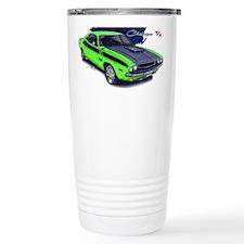 Dodge Challenger Green Car Travel Mug